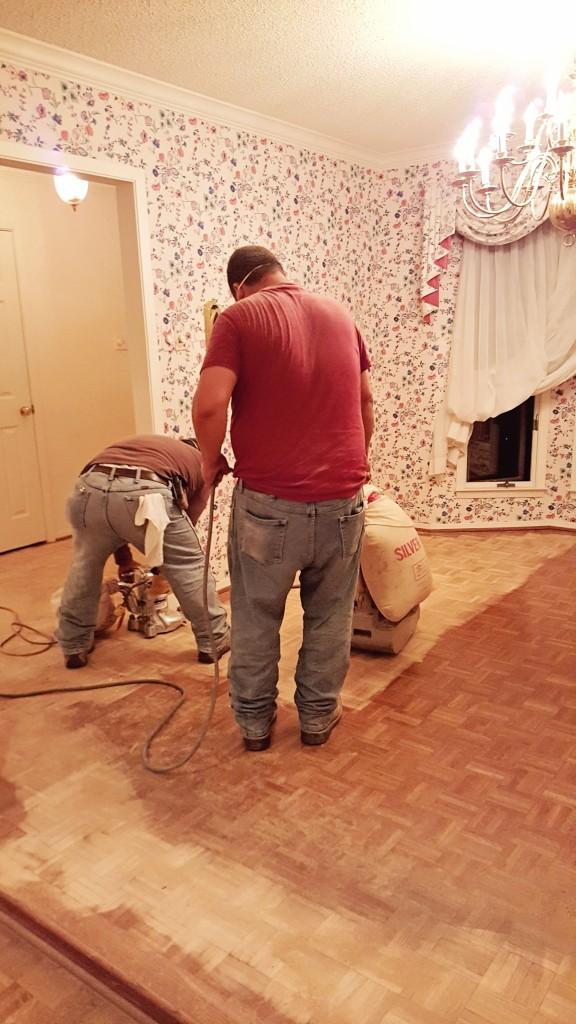 DIY wood floor refinishing 1