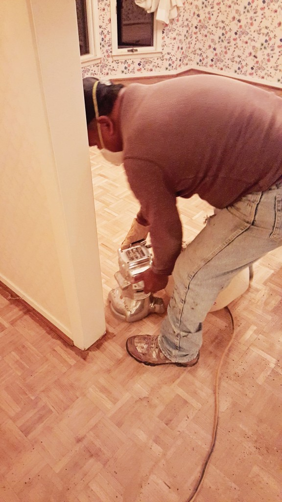 parquet wood floor redo