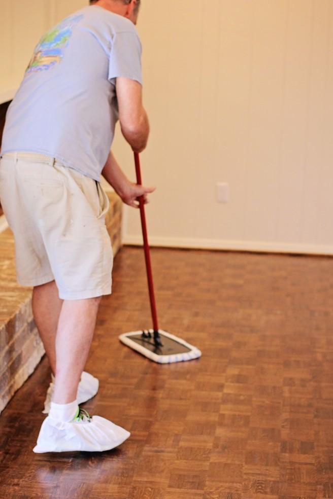 parquet wood floor reno