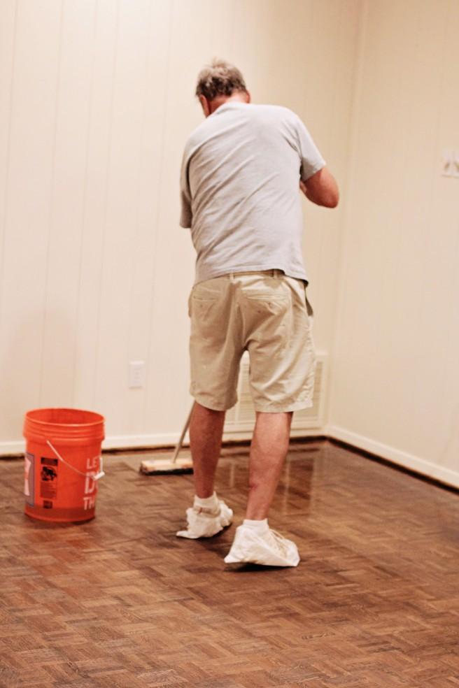 wood parquet floors refinish