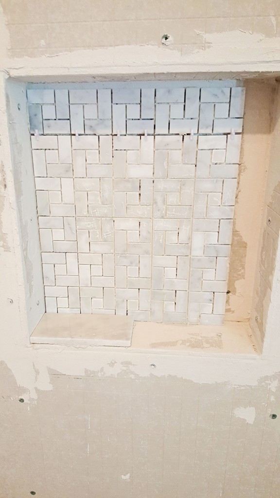 DIY marble shower wall insert 2